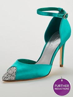 cd071bf84acc V by Very Carolina Glitter Toe Cap 2 Part Point Court - Turquoise