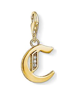 thomas-sabo-thomas-sabo-18k-gold-plate-sterling-silver-cubic-zirconia-set-letter-c-charm