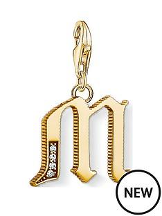 thomas-sabo-thomas-sabo-18k-gold-plate-sterling-silver-cubic-zirconia-set-letter-m-charm