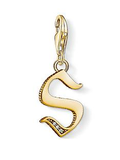 thomas-sabo-thomas-sabo-18k-gold-plate-sterling-silver-cubic-zirconia-set-letter-s-charm