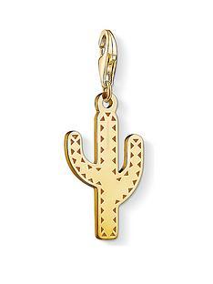 thomas-sabo-thomas-sabo-18k-gold-plate-sterling-silver-cactus-charm
