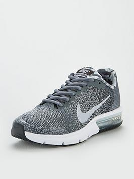 9c42f3dfaa4 Nike Air Max Sequent 2 Junior Trainer - Grey