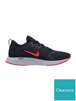 34f286414323 Nike Legend React Junior Trainers - Black Red