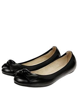Bow Elastic Black Accessorize Ballerina Leather  Clearance Looking For HM7atAD