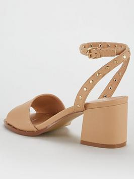 Outlet Great Deals Clearance Footaction by  Stud Low Very Ankle V Nude Gia Strap Block Sandal I8tJT9FN