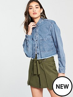 native-youth-cropped-shirt-with-fray-denim-blue