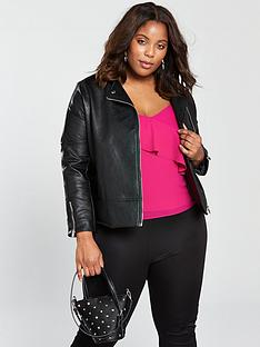 lost-ink-plus-biker-jacket-in-textured-pu-black