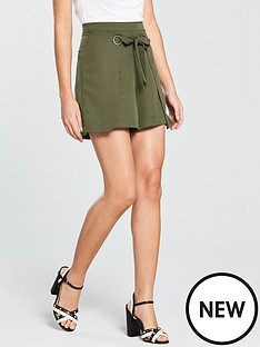 native-youth-wrap-front-shorts-olive