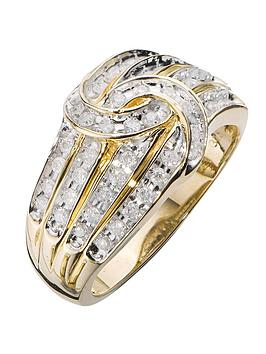love-diamond-9-carat-yellow-gold-50-point-diamond-four-row-knot-ring