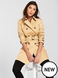 miss-selfridge-belted-double-breasted-trench-coat-camel