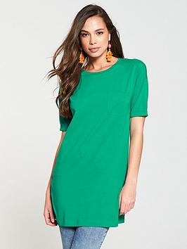 v-by-very-pocket-thee-quarter-sleeve-tunic-apple-green