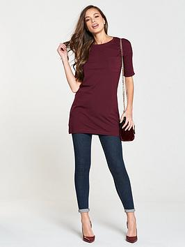 Cheap Finishline Sale Sast Three Pocket Quarter Tunic Sleeve V Very Wine  by Affordable Cheap Online Big Sale Cheap Price uCwtA2G
