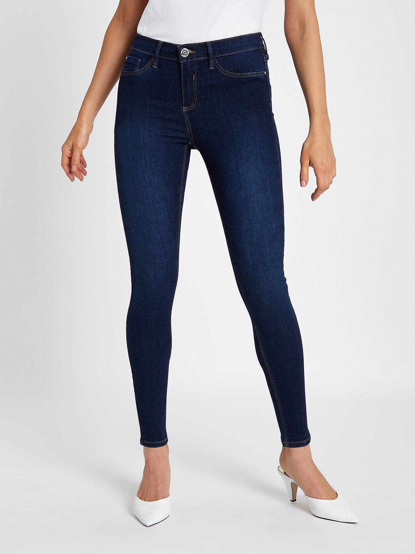 River Island River Island Regular Leg Molly Skinny Jeans- Mid Auth