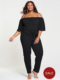 lost-ink-plus-bardot-jumpsuit-black
