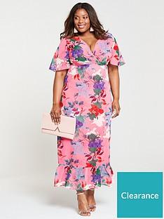420dd4a9ad3 Lost Ink Plus Kimono Maxi Dress - Bright Floral Print