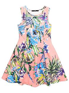 v-by-very-girls-floral-dress-coral