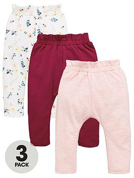 mini-v-by-very-baby-girls-3pk-floral-frill-joggers