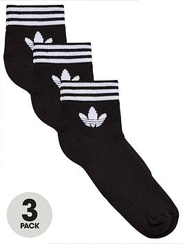 Outlet Cheap Online Brand New Unisex Online Pack nbsp adidas Trefoil  Sock Black Originals Ankle 3 Buy Cheap New 0nc28