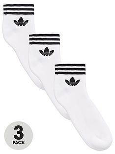 adidas-originals-trefoil-ankle-sock-3-pack-whitenbsp