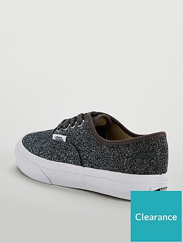 20056918af Vans Authentic Glitter Junior Trainer - Black Glitter ...