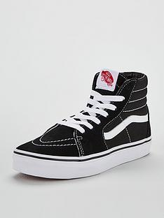 c8d15fbe406040 Vans Sk8-Hi Junior Trainer - Black