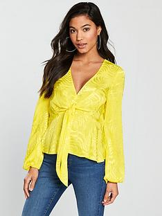 v-by-very-jacquard-knot-front-top-yellow