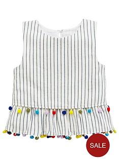 v-by-very-girls-stripednbsppom-pomnbspvest-top-multi