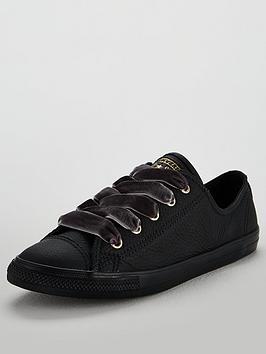 Converse Chuck Taylor All Star Dainty Leather Ox - Black ... 5d9430a1cd