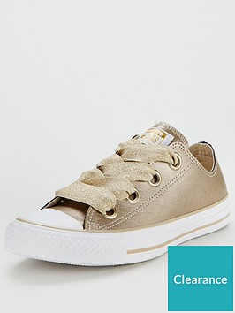 6f6f23eb5f16 Converse Chuck Taylor All Star Leather Big Eyelets Ox - Gold White ...