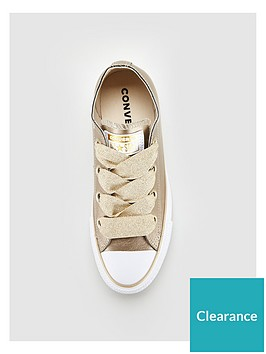 6f4901db957029 Converse Chuck Taylor All Star Leather Big Eyelets Ox - Gold White. View  larger