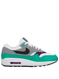 new arrival edbef 460e7 Nike Air Max 1 - White Purple Green