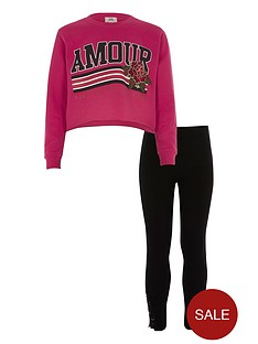river-island-girls-pink-lsquoamourrsquo-cropped-sweatshirt-outfit
