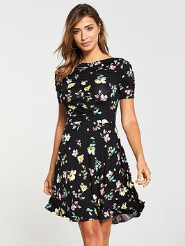 v-by-very-ruched-jersey-dress-printed