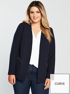 v-by-very-curve-zip-detail-longline-blazer-navy