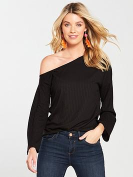v-by-very-one-shoulder-bell-sleeve-top