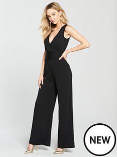 v-by-very-tie-waist-jersey-wrap-jumpsuit-black