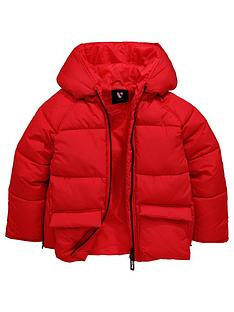 v-by-very-girls-red-hooded-padded-coat