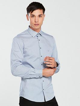 calvin-klein-fine-stripe-fitted-shirt