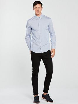 Cheap Pay With Paypal Fitted Fine Stripe Shirt Klein Calvin Cheap Sale Reliable Footaction Cheap Online High Quality vwPfj