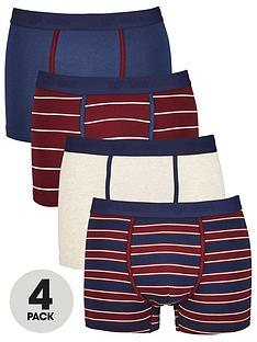 v-by-very-mens-4-pack-striped-and-plain-trunks-multi