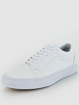 Discount Codes Shopping Online Cheap Sale In China Vans nbsp Leather White Old Skool  Clearance 2018 New rgMZFhHi0