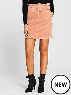 v-by-very-cord-belted-mini-skirt-dusty-pink
