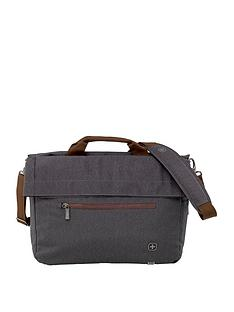 653dd871a8 Wenger SunScraper Double Flapover Business Case with Tablet Pocket - Grey