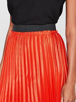 Mango Orange Skirt Metallic Midi  Pleated Online Shopping Reliable Cheap Price Sast Cheap Price Discount 2018 Unisex LM6PA