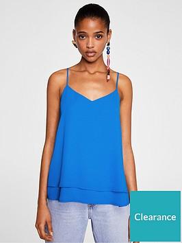 mango-double-layer-tie-back-cami-blue
