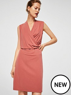 mango-drape-front-dress