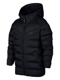 nike-nike-older-boys-nswnbspfilled-hooded-jacket-black