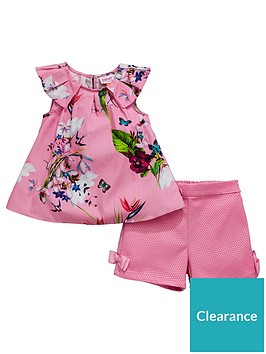 ef6acab1c Baker by Ted Baker Baby Girls Oasis Printed Top And Short Set ...