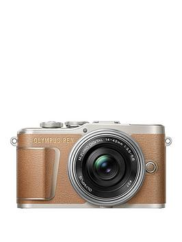 olympus-pen-e-pl9-compact-system-camera-with-14-42-ez-lens-brown