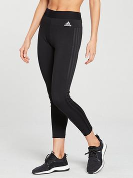adidas-essentials-3-stripe-tight-black